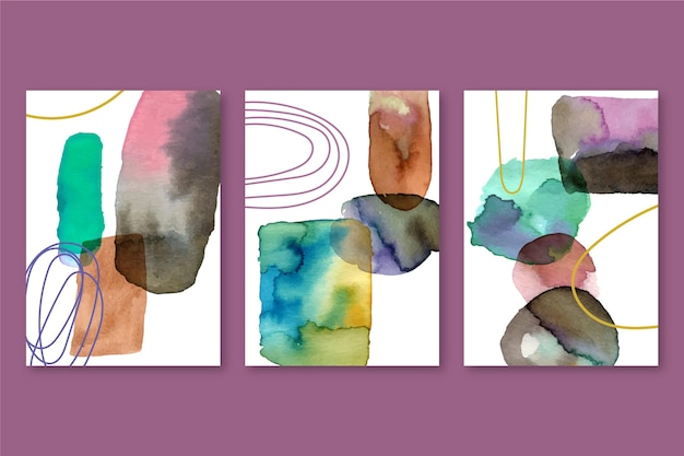 Malowane akwarele kształty obejmuje zestaw
