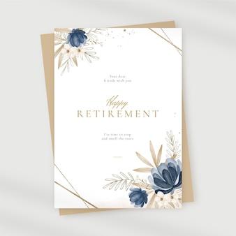 Malowane karty z pozdrowieniami emerytury