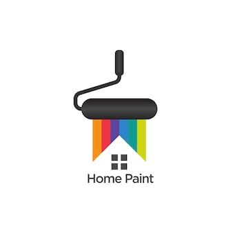 Malowanie domu logo szablon wektor wzór