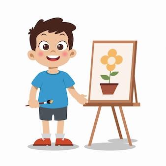 Malowanie dzieci ilustracja