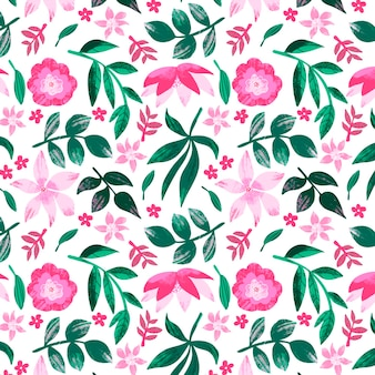 Malowany abstrakcyjny wzór kwiatowy