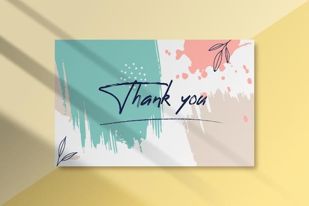 Malowany szablon etykiety z podziękowaniem