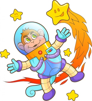Małpa astronauta