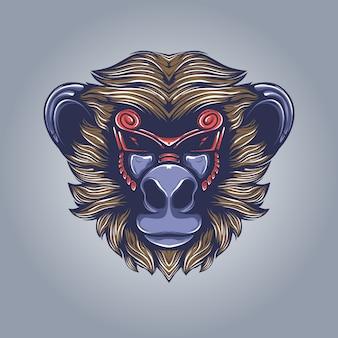 Małpa grafika ilustracja