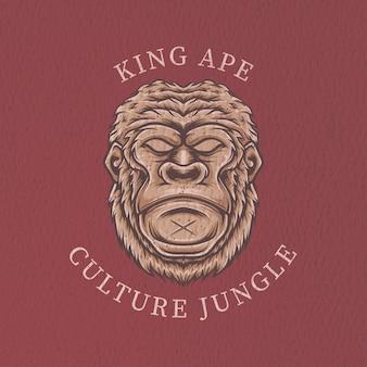 Małpa z grunge tekstur