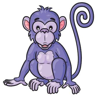 Małpka śliczna kreskówka
