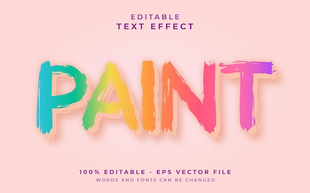 Maluj edytowalny efekt tekstowy