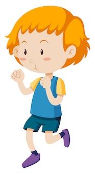 Mały chłopiec biegnie