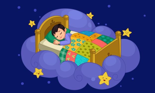 Mały chłopiec śni