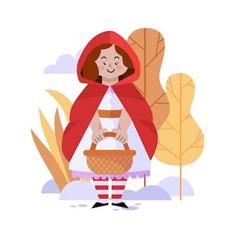Mały czerwony kapturek ilustracja