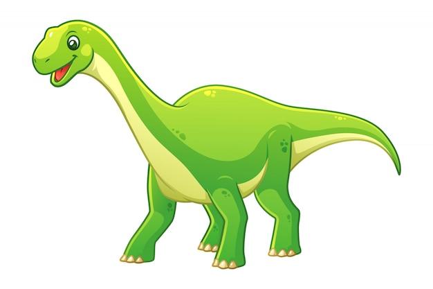 Mały ilustracja kreskówka diplodocus