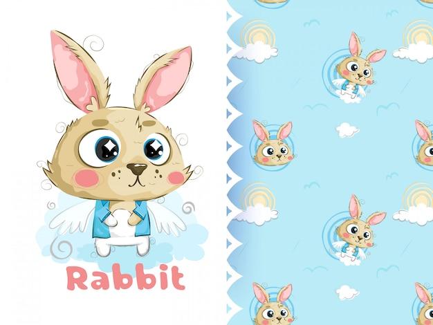 Mały króliczek i wzór
