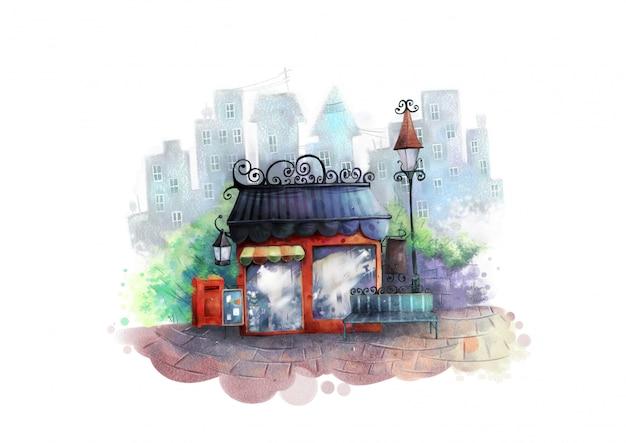 Mały, piękny sklep w mieście