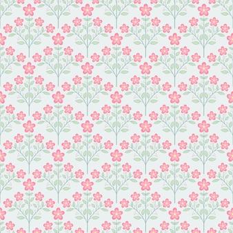 Mały różowy kwiat kwitnie bukiet bezszwowe tło wzór