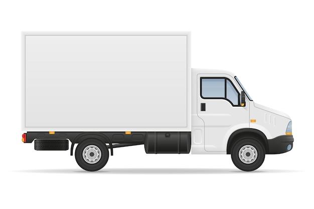 Mały samochód ciężarowy samochód ciężarowy do transportu towarów na białym tle