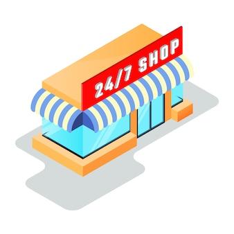 Mały sklep, minimarket ze sklepem