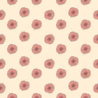 Mały Słonecznikowy Różowy Kształt Bez Szwu Wzór W Kreatywnym Rozkwicie Premium Wektorów