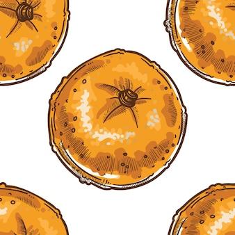 Mały wzór pomarańczy lub mandarynek na białym tle
