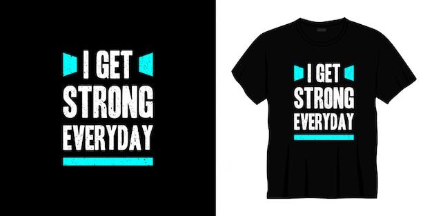 Mam mocny, codzienny projekt koszulki z typografią