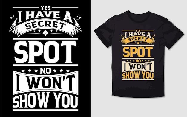 Mam projekt koszulki z typografią w sekretnym miejscu