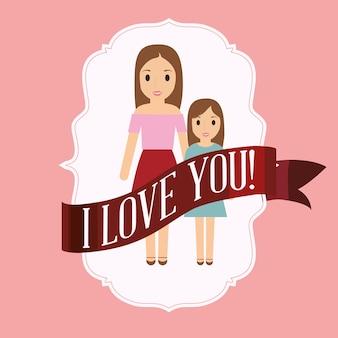 Mama i córka cię kochają karty