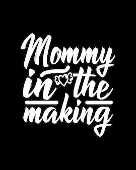 Mama w tworzeniu tekstu w ręcznie rysowane plakat typografii