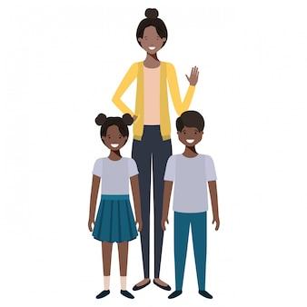 Mama z postacią awatara dla dzieci