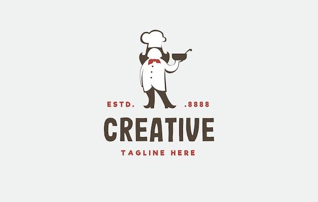 Mamy gotujące inspirację do projektowania logo ilustracja wektorowa matki szefa kuchni przynosi miskę zupy