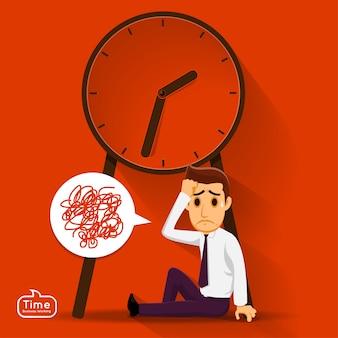 Managemnet koncepcja czasu ilustracji