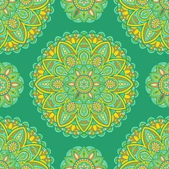 Mandala bez szwu wzór do druku. ornament plemienny.