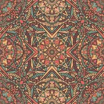 Mandala bezszwowe tło wzór. ornament plemienny.