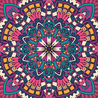 Mandala doodle kwiat. streszczenie geometryczny wzór