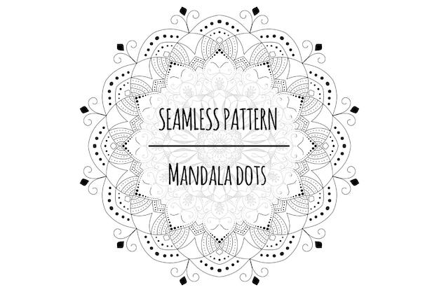 Mandala dots seamless patern