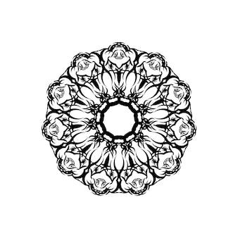 Mandala. etniczne elementy dekoracyjne. ręcznie rysowane tła. motywy islamu, arabskie, indyjskie, osmańskie.