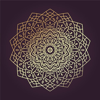 Mandala golden lineart