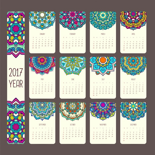 Mandala kalendarz projektowania