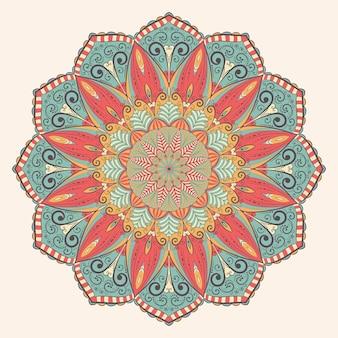 Mandala kolor w stylu vintage