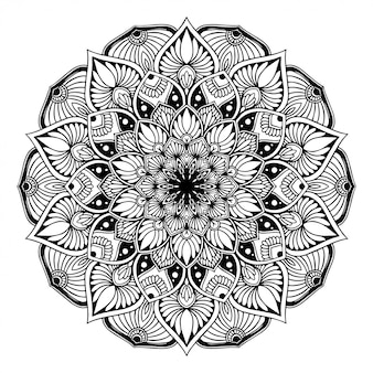 Mandala kolorowanka, orientalne terapia joga doodle