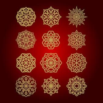 Mandala kwiat ilustracji wektorowych na paczce