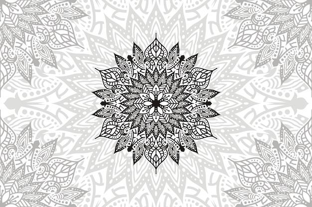 Mandala kwiatowa vintage elementy dekoracyjne. orientalny