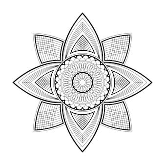 Mandala kwiatowy, ilustracji wektorowych