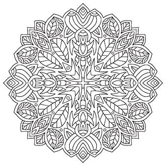 Mandala kwiatowy wzór. książka do kolorowania.