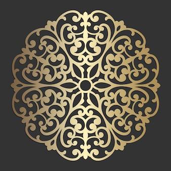Mandala kwiatu pięknego wektorowego rocznika dekoracyjnego elementu orientalna ilustracja. wycinana laserowo konstrukcja podstawki.