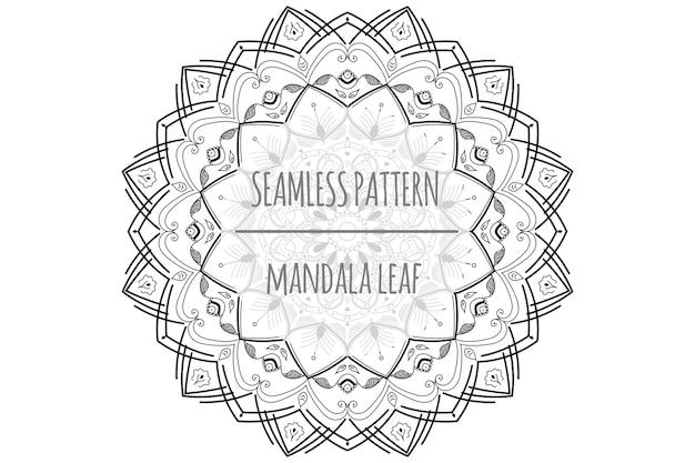 Mandala leaf seamless patern