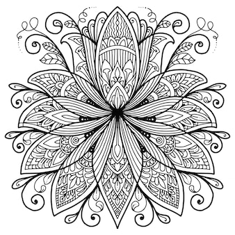 Mandala lotus design dla kolorowanka