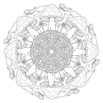 Mandala mushroom