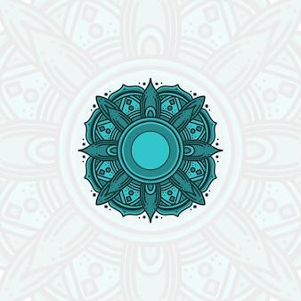 Mandala na tło ramadan kareem