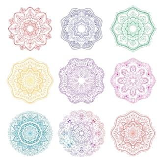Mandala okrągły kwiatowy ornament kolekcja
