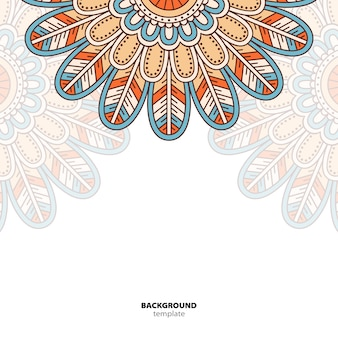 Mandala. okrągły ornament ozdoba. etniczne tło orientalne