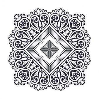 Mandala okrągły ornament. vintage elementy dekoracyjne